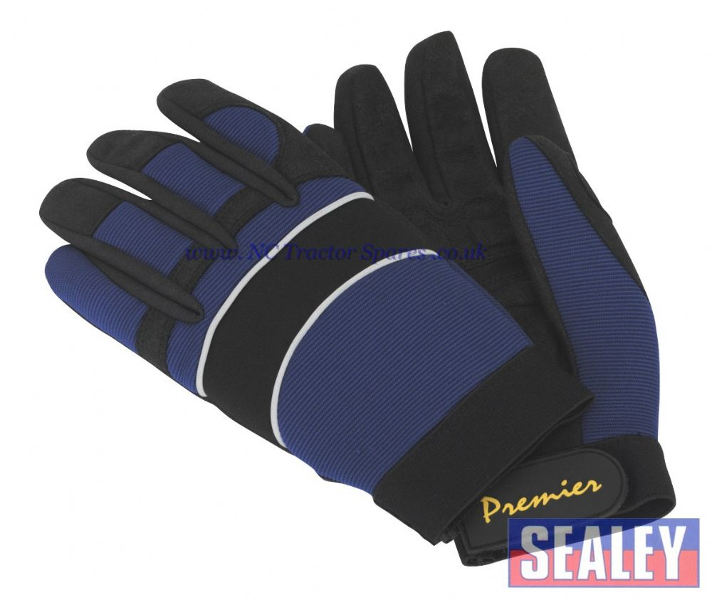 Mechanic's Gloves Padded Synthetic Palm - Large
